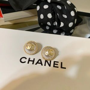 Chanel vintage stud earrings